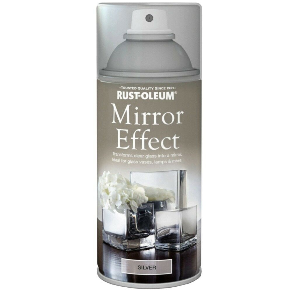 Rust-Oleum Mirror Effect Spray Paint Silver Gloss Finish