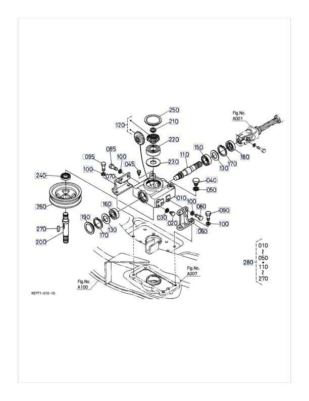 repair kit for kubota k5763