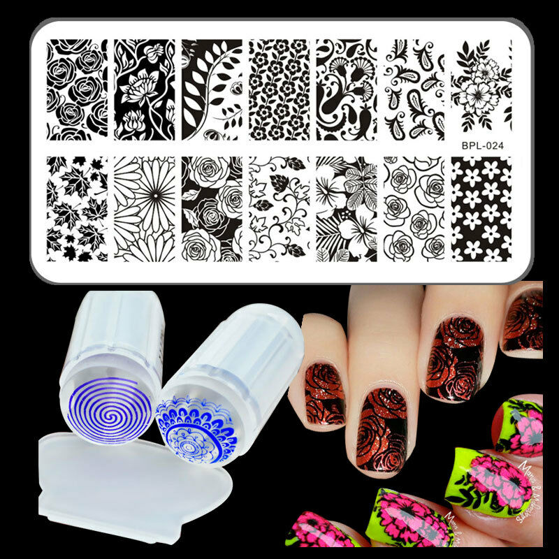 Nail Art Kit With Stamping: BORN PRETTY Nail Art Stamp Stamping Plate Roses Design