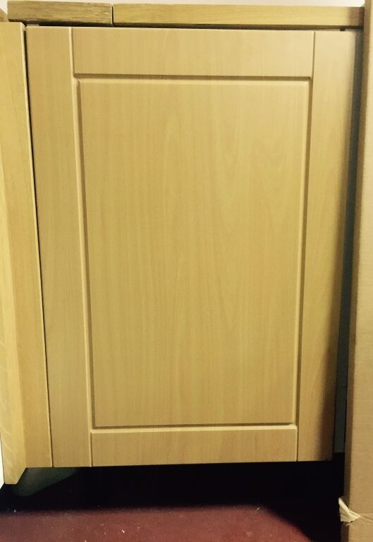 Medium Beech Effect Shaker Fitted Kitchen Cupboard Cabinet