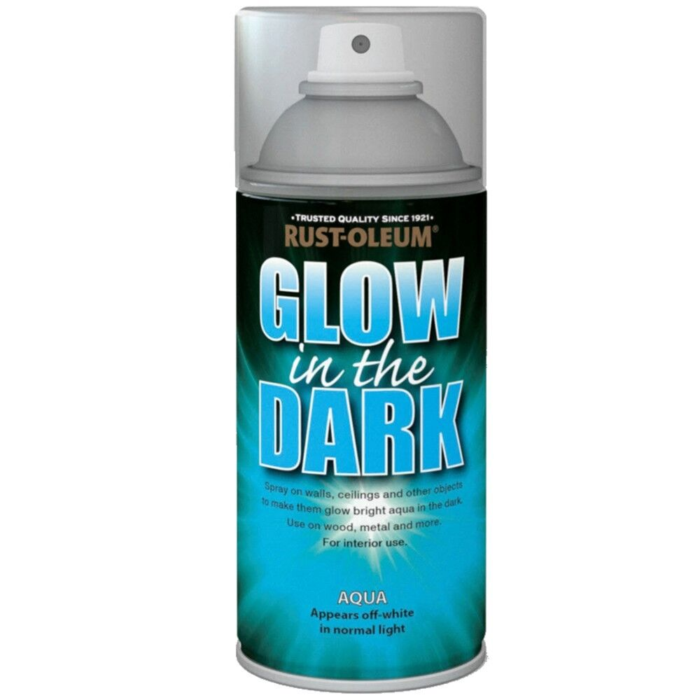 Rust oleum glow in the dark aqua glowing aerosol spray - Rust oleum glow in the dark paint exterior collection ...