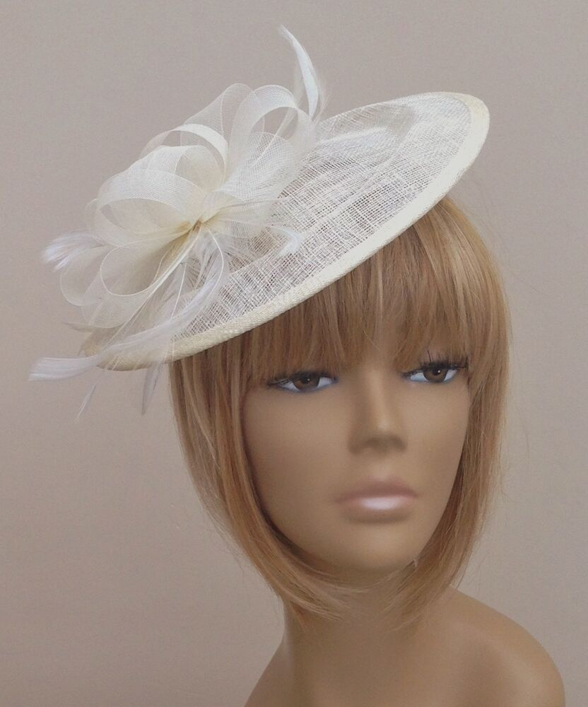 Ivory Cream Hat Fascinator Mother Of The Bride /Groom