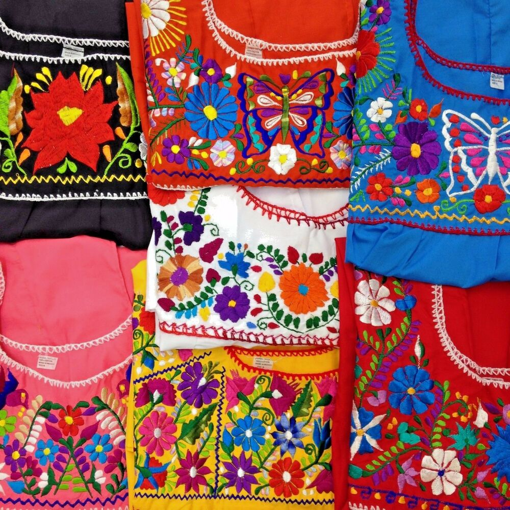 Vintage Mexican Embroidered Blouses 20