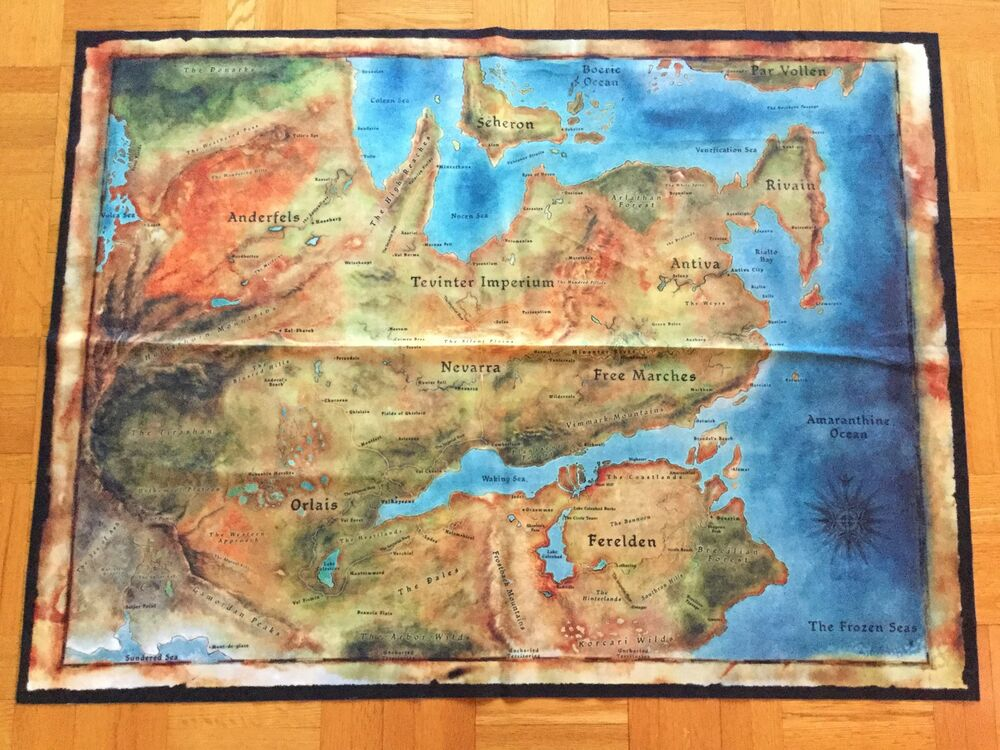 Map Of Thedas Dragon Age Inquisition Inquisitor's Edition Cloth Map of Thedas | eBay Map Of Thedas