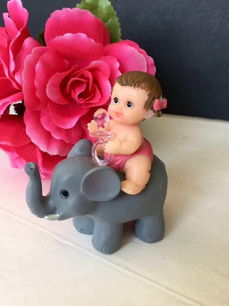 1PC Baby Shower Elephant Cake Topper Decorations Animals ...