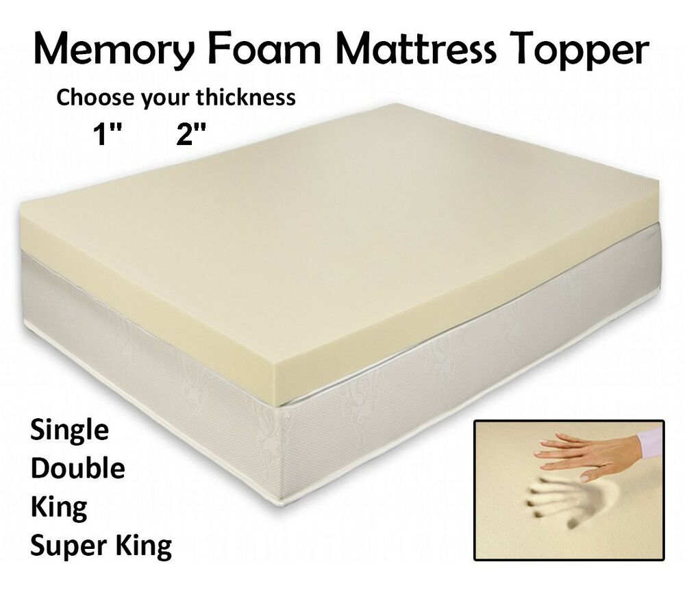 Orthopaedic memory foam mattress toppers all sizes and depths free zip cover ebay Where to buy mattress foam