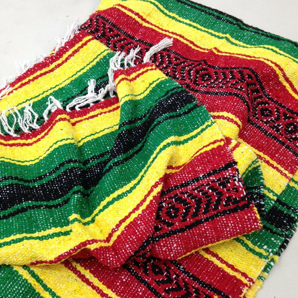 Mexican Rug Images: Authentic Mexican Falsa Yoga Blanket Hand Woven Sarape