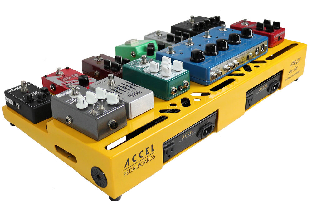 accel xta25 guitar effects modular pedalboard and riser plate without case ebay. Black Bedroom Furniture Sets. Home Design Ideas