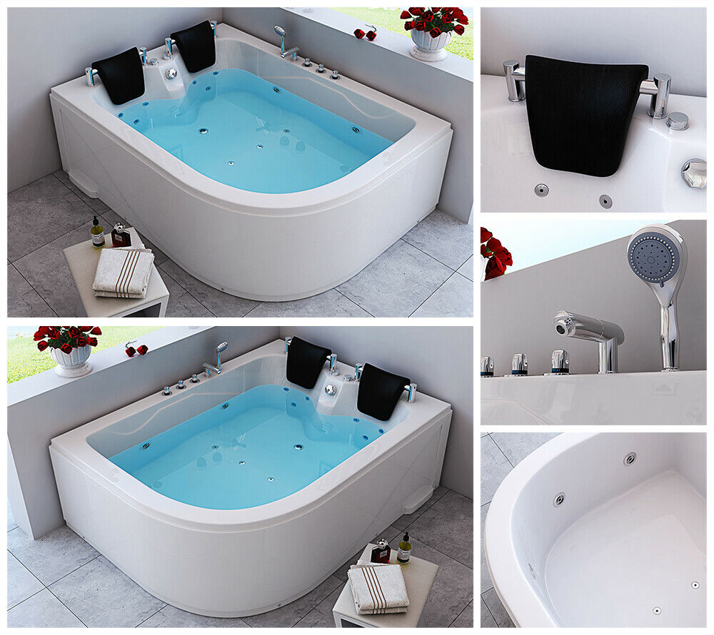 whirlpool badewanne eckbadewanne wanne badewanne pool spa 2 personen ebay. Black Bedroom Furniture Sets. Home Design Ideas
