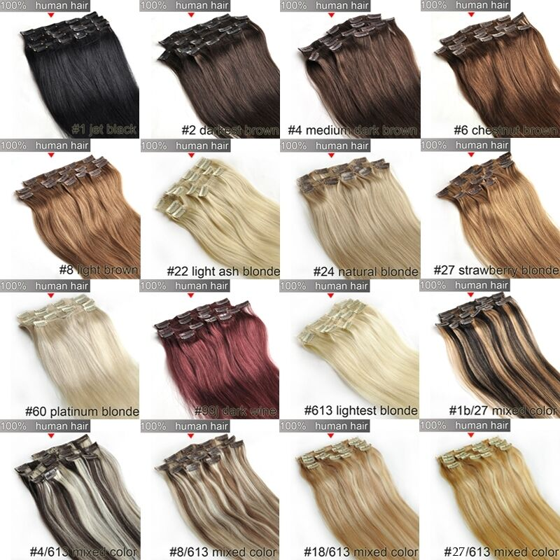 2224262830 Clip In Remy Extensions 100 Human Hair Full