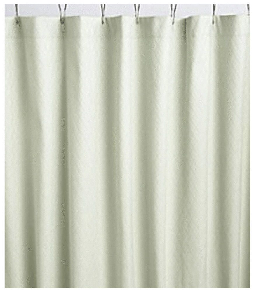 New Noble Excellence Fabric Shower Curtain Green Celadon Ebay