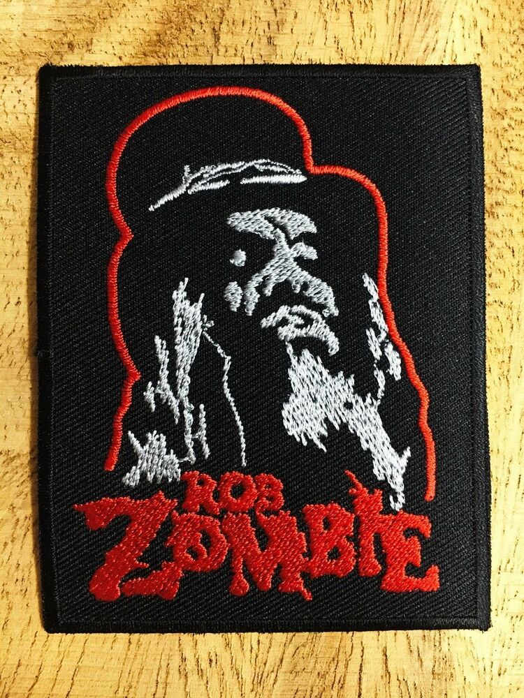 Rob zombie sew iron on patch embroidered music heavy metal