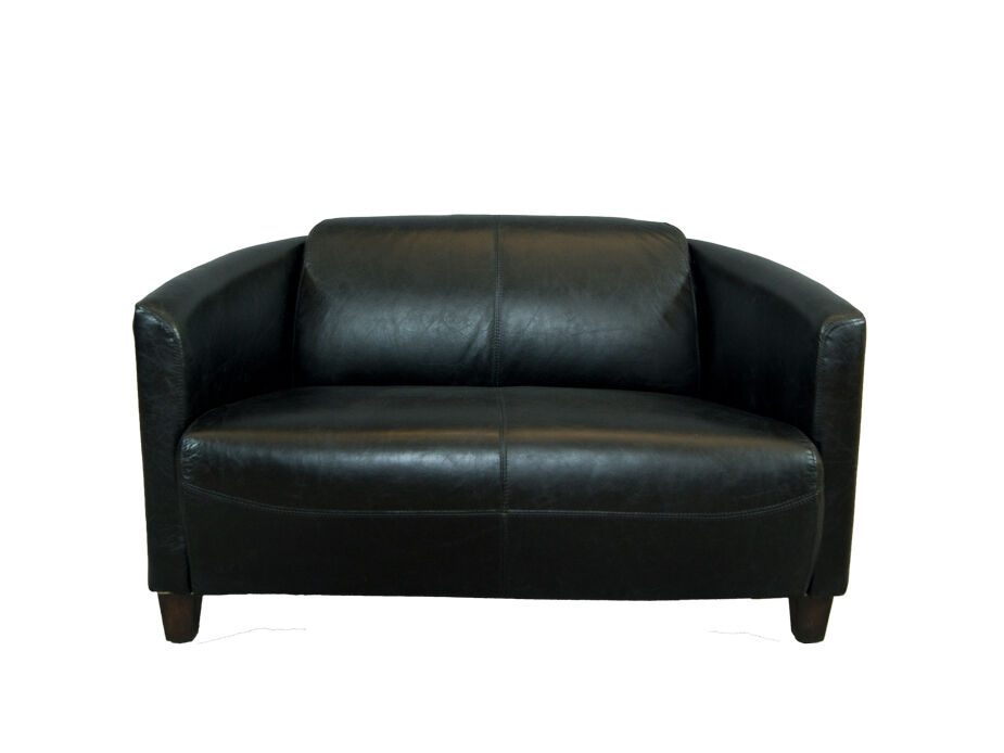 Vintage echtleder sofa rocket schwarz belon black for Sofa ankauf