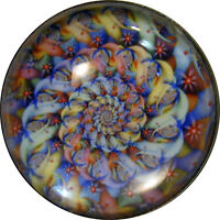 """1"""" Crystal Dome Button Mystical Spiral #6 -- Gorgeous! FREE US SHIPPING"""