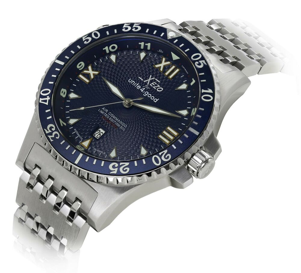 xezo air commando automatic citizen movt sapphire