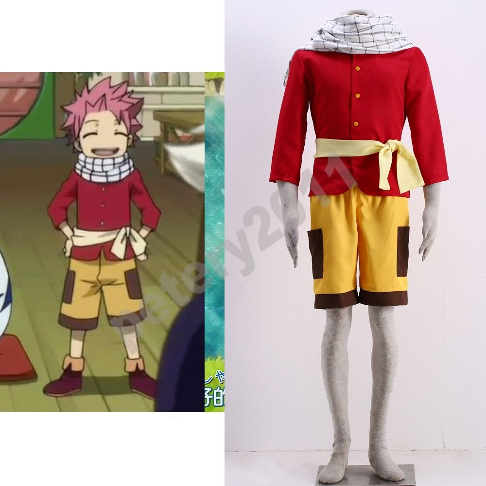 fairy tail young natsu dragneel cosplay costume childhood