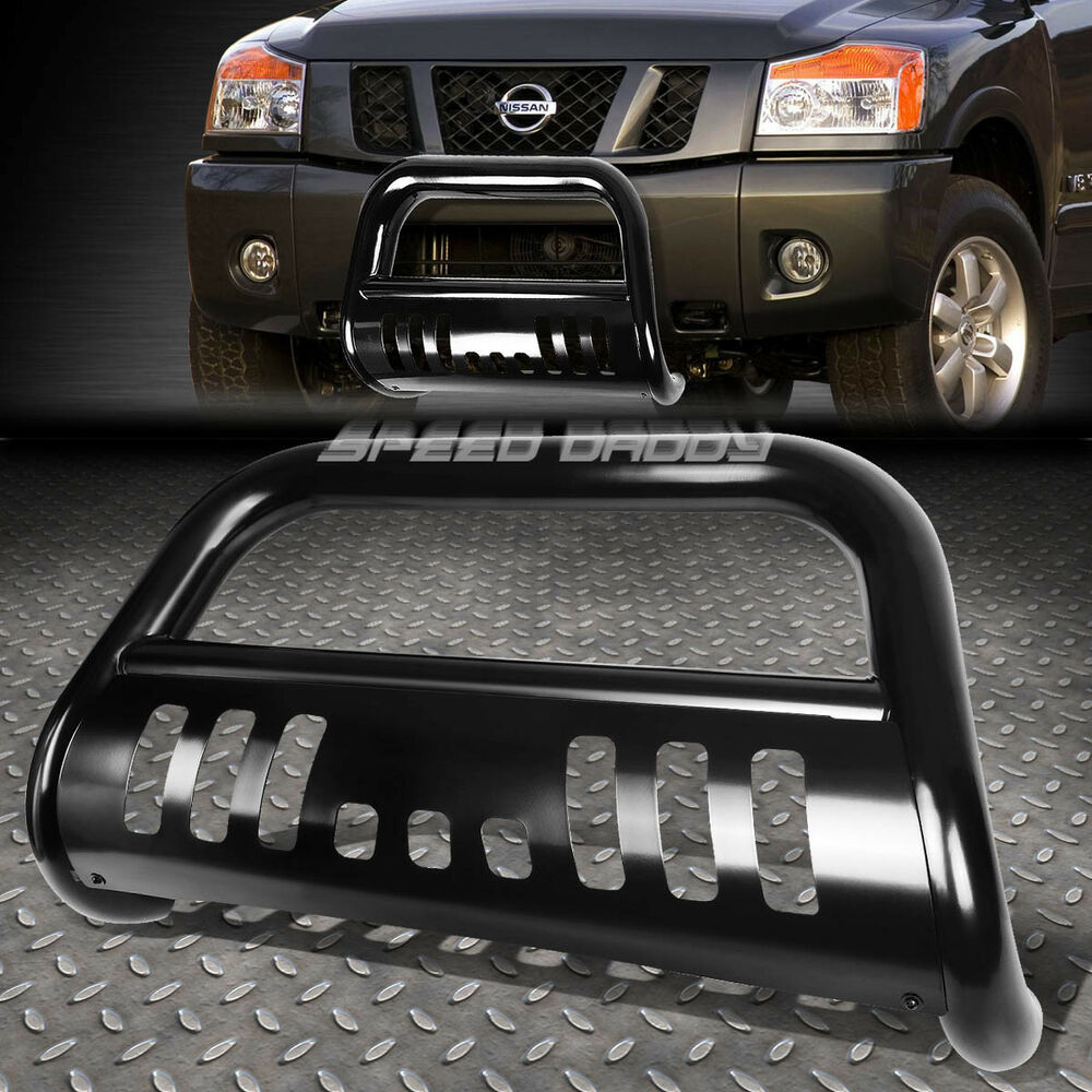 Black 3 Quot Bull Bar Push Bumper Grille Guard For 05 16