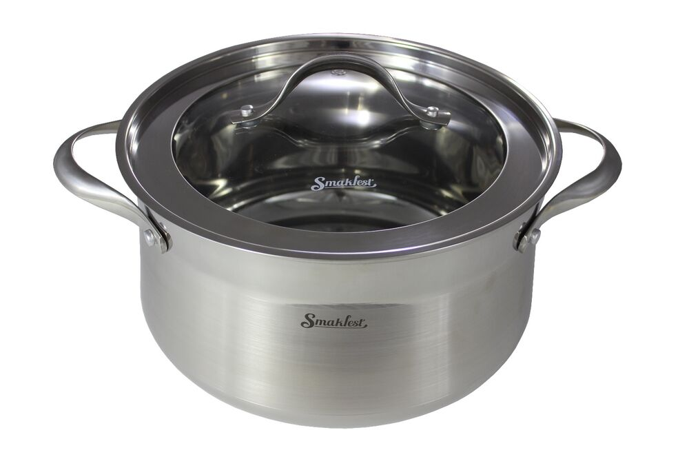 Pot For Induction Cooker ~ Smakfest stainless steel ply bottom stock pot cookware