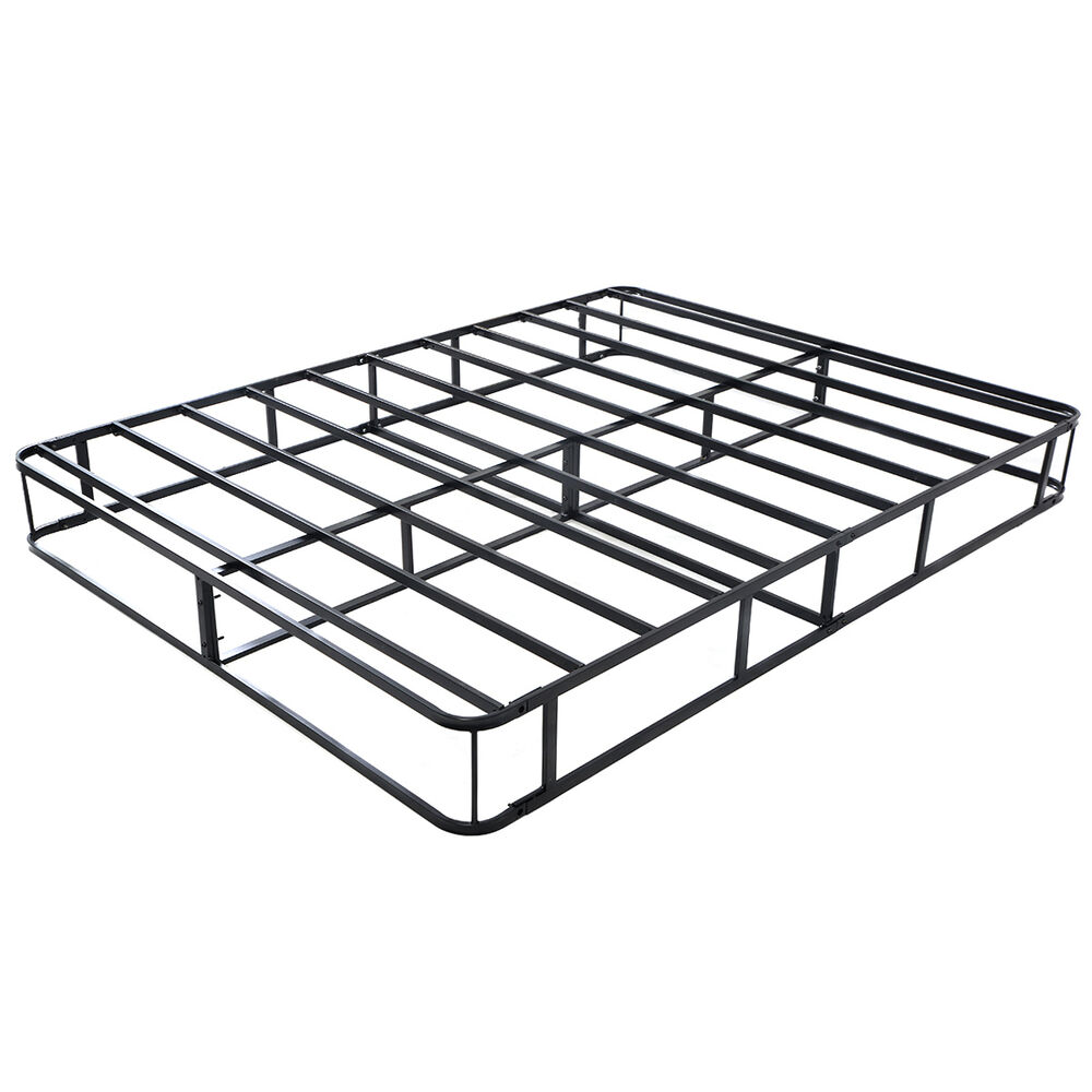 Black Modern Heavy Duty Metal Bed Frame Mattress