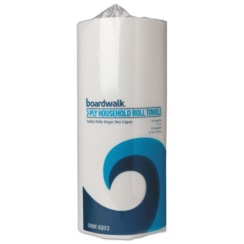 Paper Towel Rolls For Hamsters: Boardwalk Paper Towel Rolls Perforated 2-Ply White 85