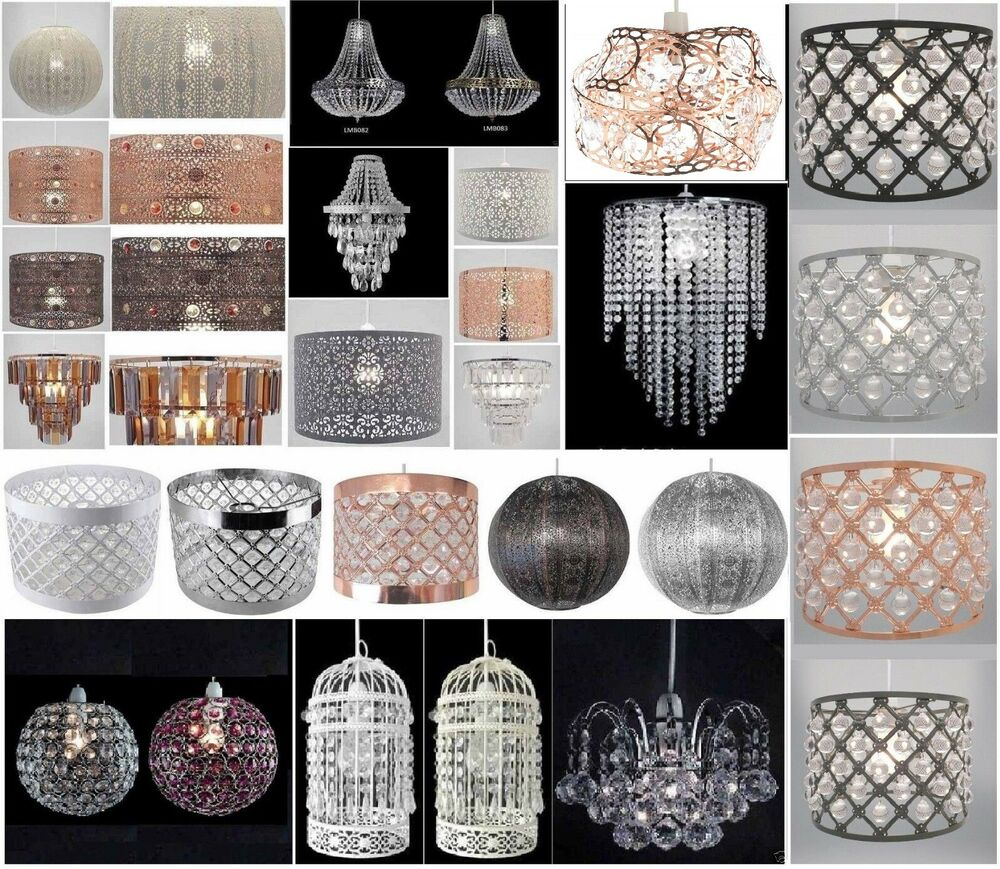 Chandelier Style Ceiling Light Shade Droplet Pendant