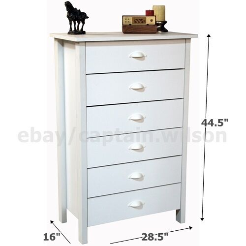 bedroom storage dresser chest 6 drawer modern wood