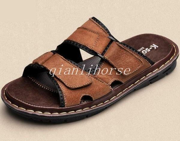 Search for mens leather sandals sale price comparison.