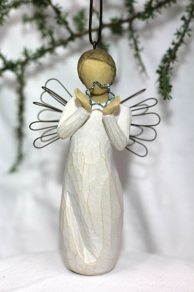 Angel Ornament Bright Twinkle Star Hanging Willow Tree