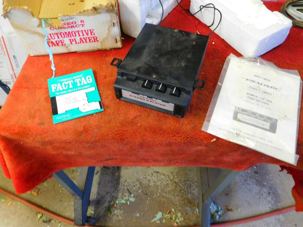 nos in oem box realistic stereo 8 automotive car 8 track player 12 1819 ebay