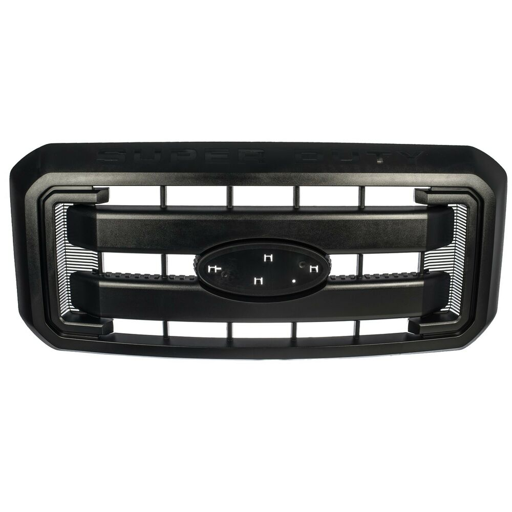 11-16 Ford F250 F350 Super Duty Black Grille Front ...