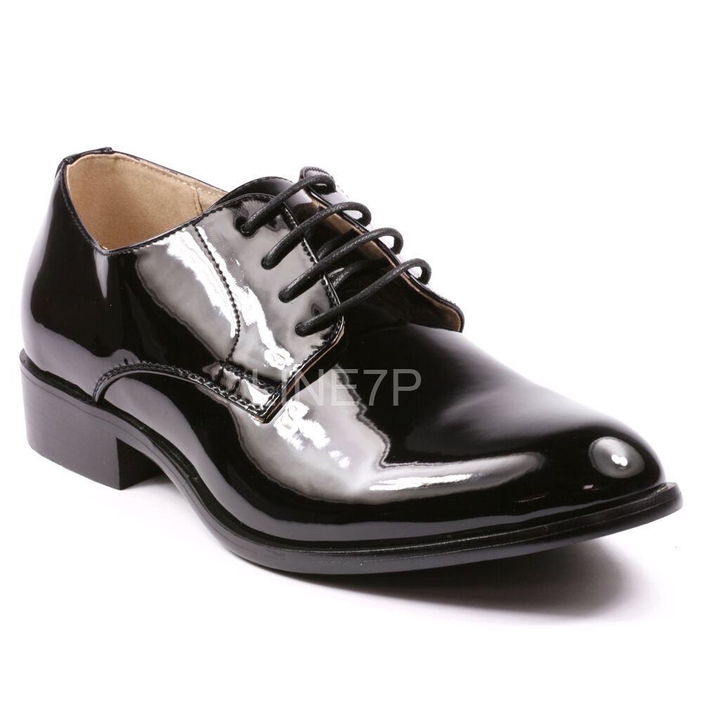 s patent plain tuxedo lace up oxford dress shoes ebay