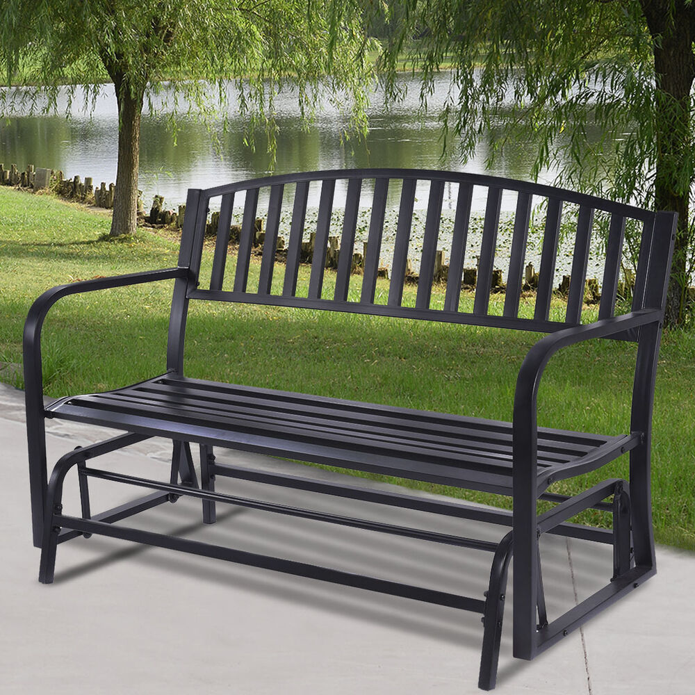 Outdoor Patio Leisure Swing Rocker Glider Bench Loveseat