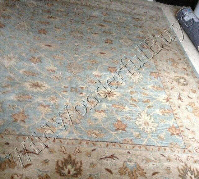 Pottery Barn Malika Rug Blue 8x10 Persian Wool Mallika New