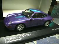 PORSCHE 911 993 Carrera Coupe 1993 violett purple met RAR Minichamps PMA 1:43