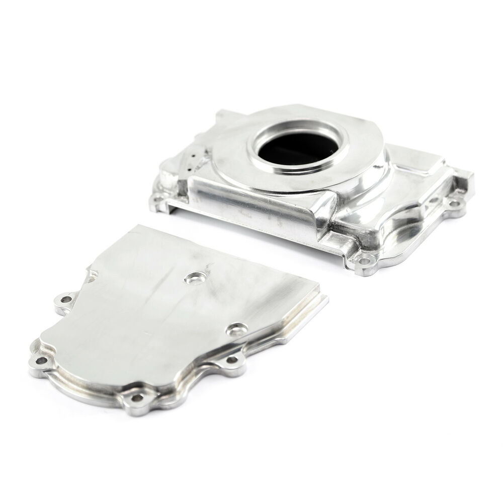 GM GEN III LS1 LS6 Polished Front 2pc Timing Cover Without