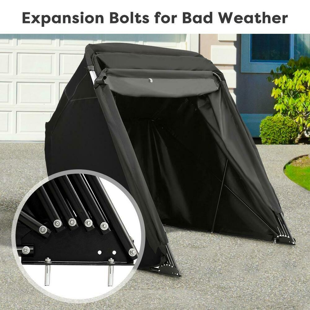 Quictent 174 Heavy Duty Small Motorcycle Shelter Shed Garage