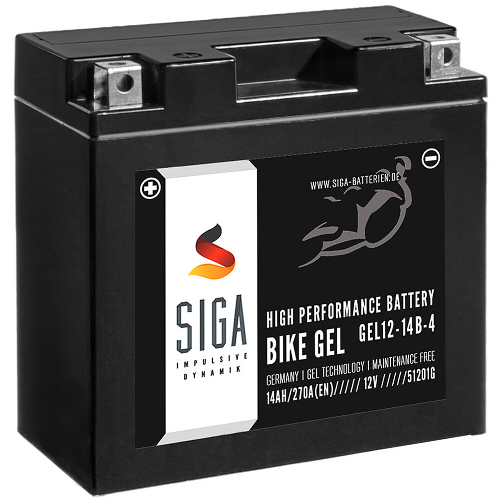 siga bike gel motorrad batterie yt14b 4 14ah 12v 270a en. Black Bedroom Furniture Sets. Home Design Ideas