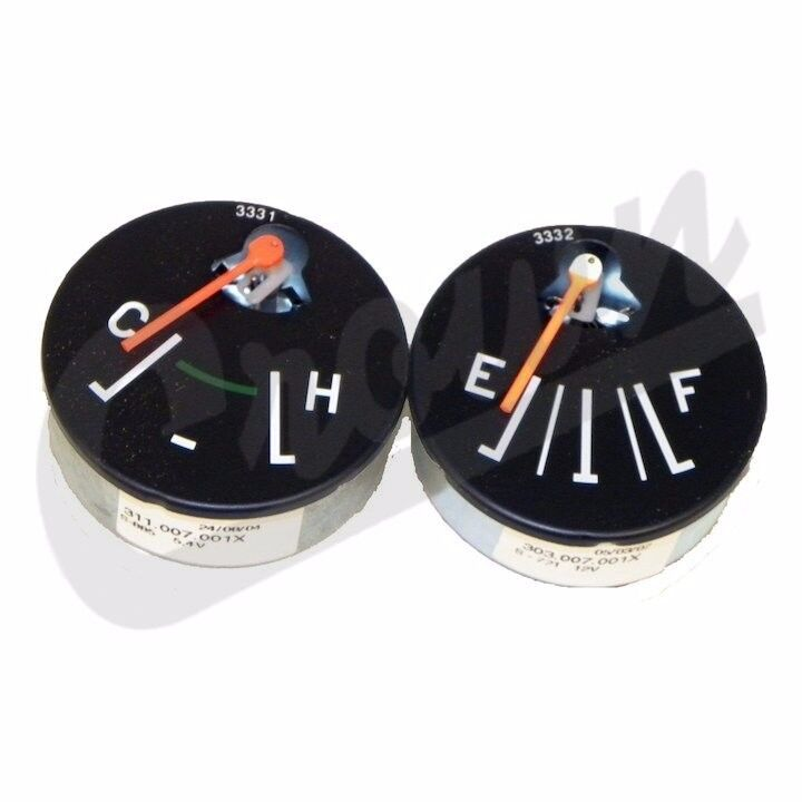 fuel temperature gauge set fits jeep cj cj5 cj6 cj7 cj8. Black Bedroom Furniture Sets. Home Design Ideas