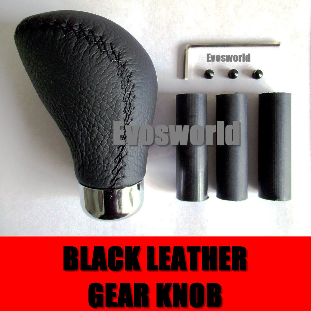 black leather car gear shift lever knob bmw 3 series. Black Bedroom Furniture Sets. Home Design Ideas