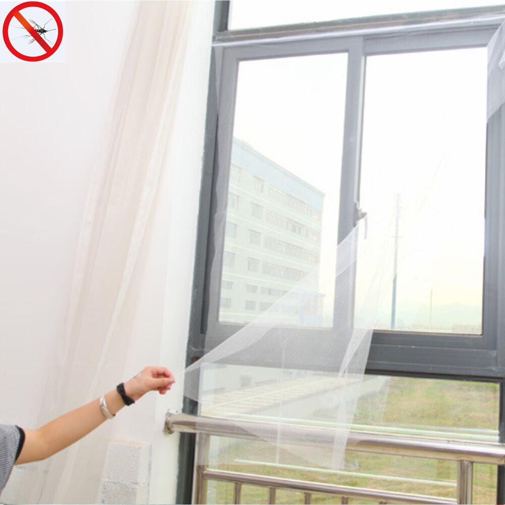 Removable DIY Window Screen Mesh Net Insect Mosquito Fly ...
