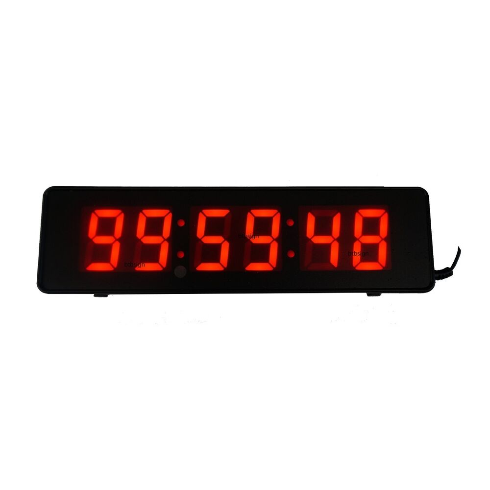 2 6digits Wall Clock Led Countdown Digital Clock For