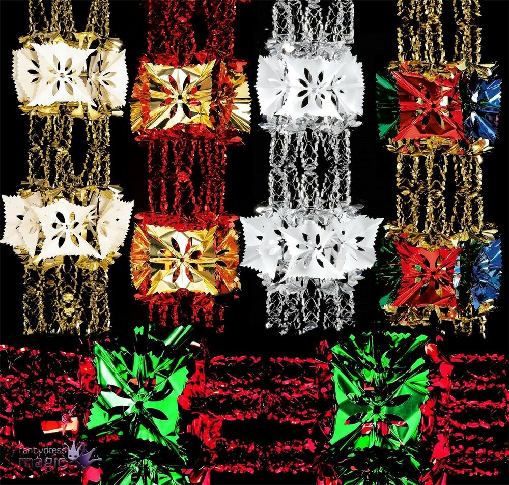 M foil luxury garland large christmas xmas