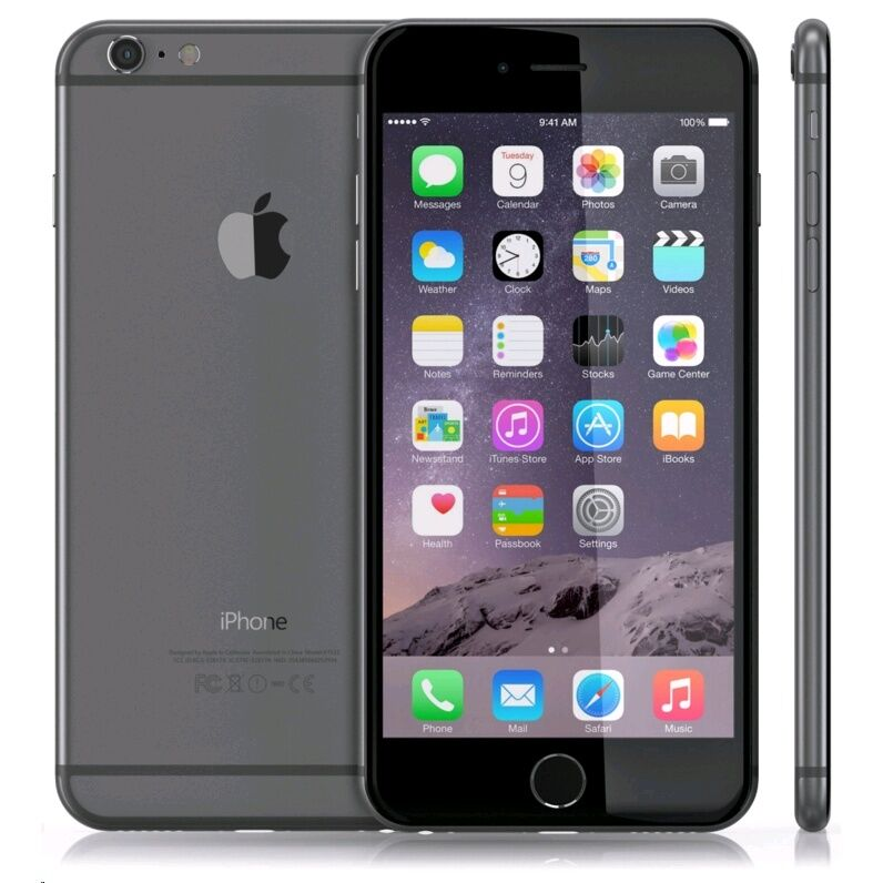 apple iphone 6 plus 16gb space gray unlocked smartphone ship worldwide 6684083846133 ebay. Black Bedroom Furniture Sets. Home Design Ideas