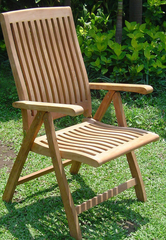 Marley A-Grade Teak Wood Dining Reclining Folding Arm ...