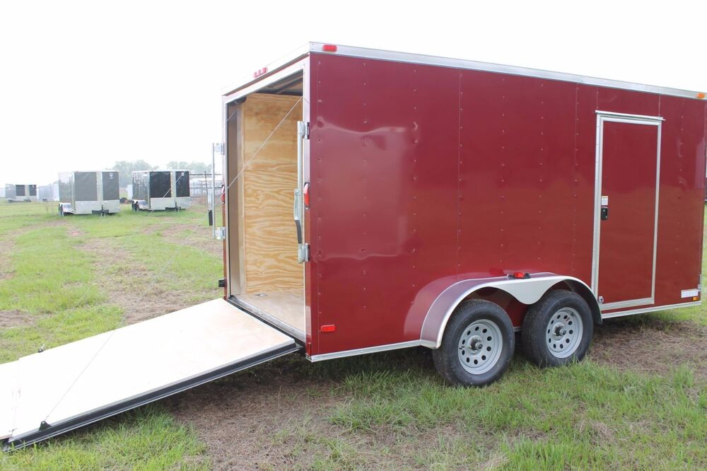 6x12 6 X 12 Enclosed Trailer Cargo Tandem 7 V Nose 14 Lawn 10 Motorcycle 2018