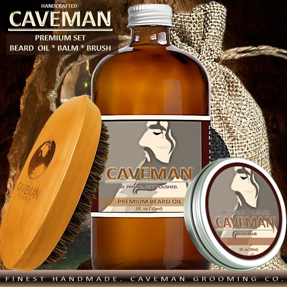 Treatments, Oils & Protectors Hand Crafted Peppermint Pine Beard Oil Conditioner Beard Care 2 Oz By Caveman ®