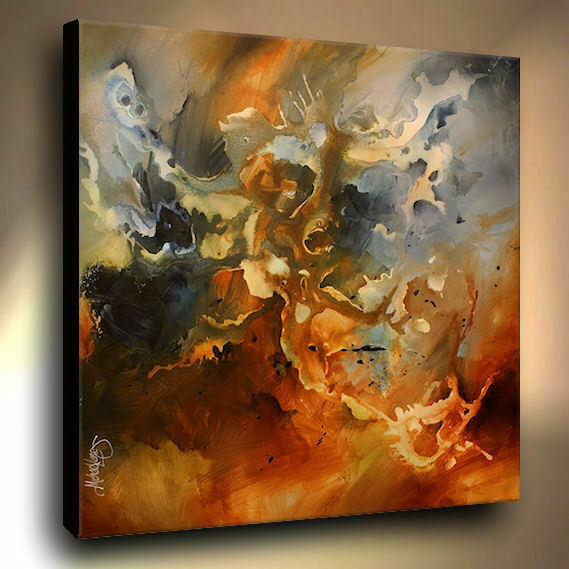 Large modern art painting abstract contemporary mix lang for Arts et decoration abonnement