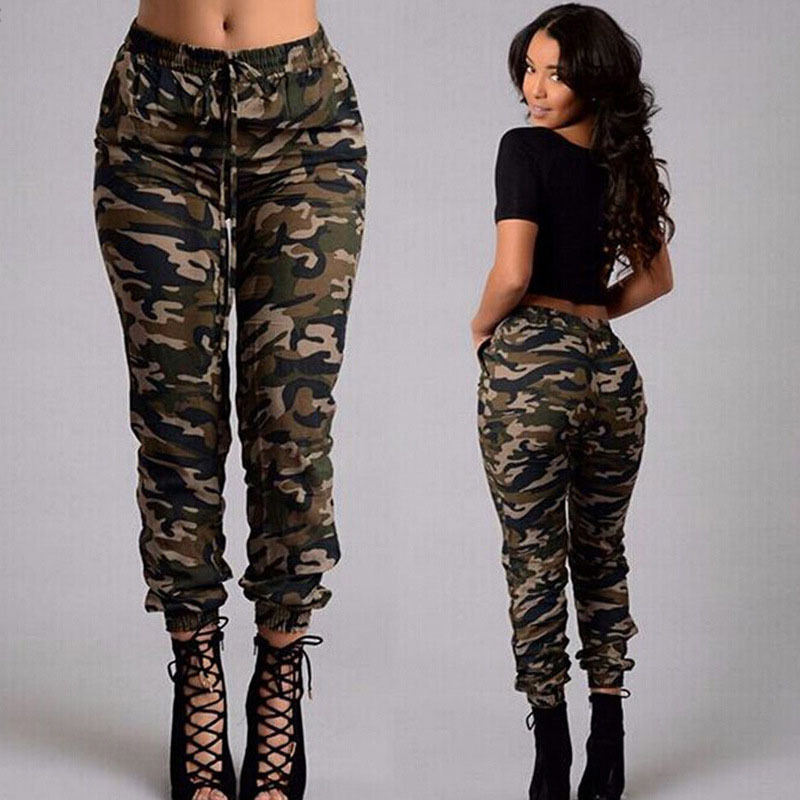 Sexy Women's Army Green Camouflage Casual Pants Fashion ...