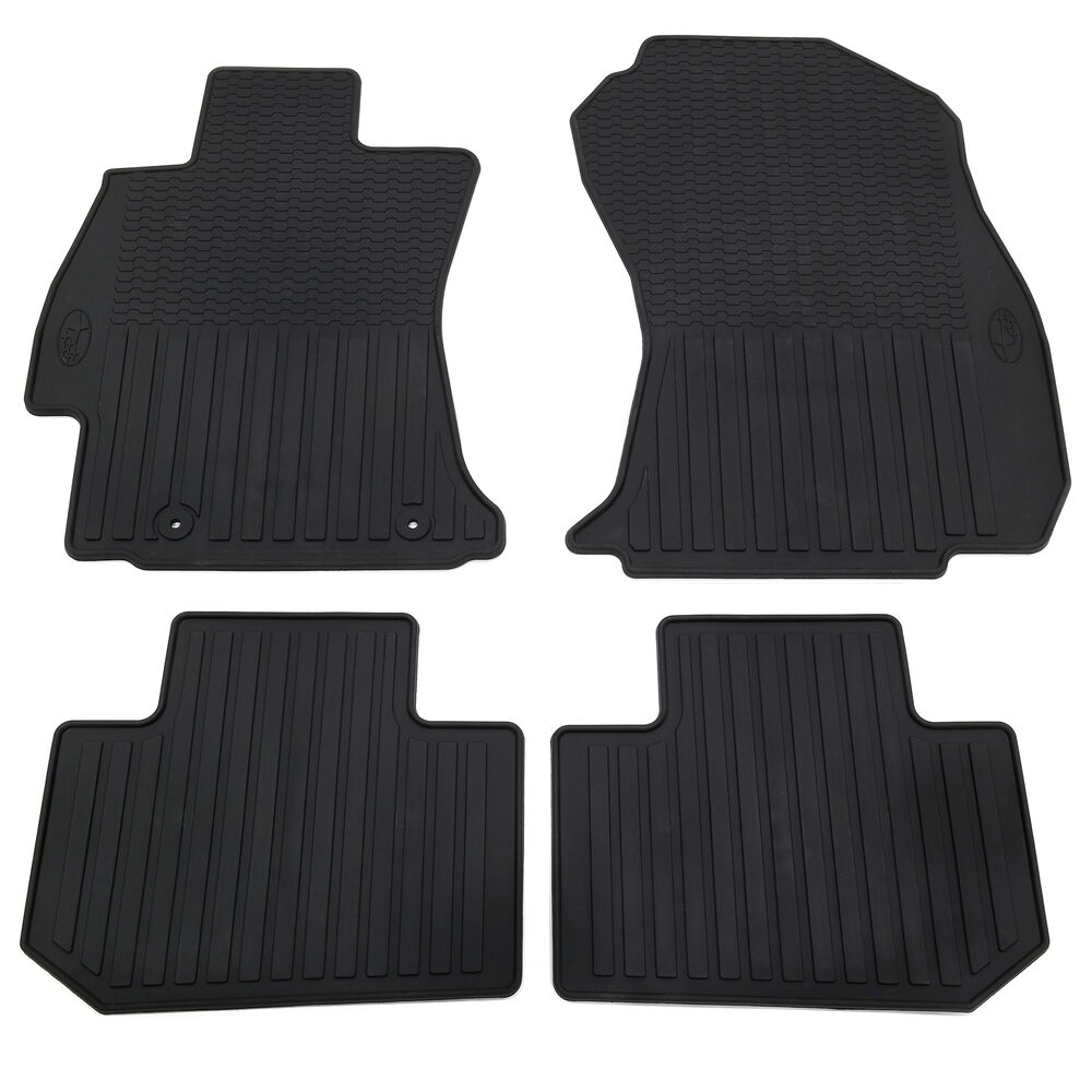 new 2014 2017 subaru forester all weather floor mats black. Black Bedroom Furniture Sets. Home Design Ideas