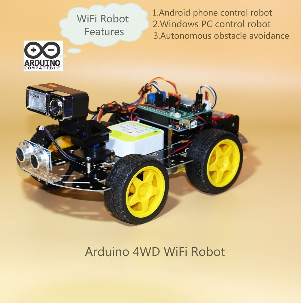 Arduino wifi video robot programmable wd smart car kit
